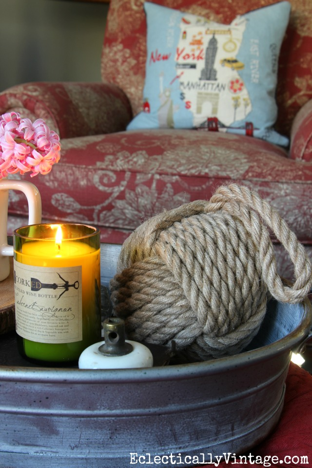 Love this wine bottle candle - it smells amazing! kellyelko.com