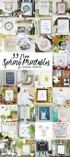 33 free spring printables eclecticallyvintage.com