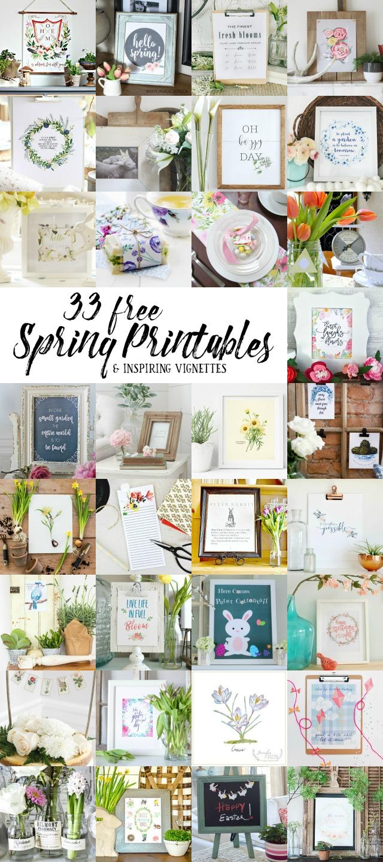33 Free Spring Printables kellyelko.com