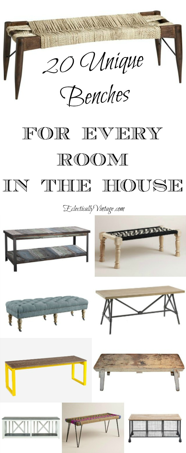 20 Unique Backless Benches for any room in the house kellyelko.com