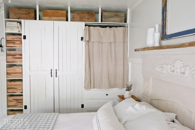Built in storage closet in the bedroom kellyelko.com