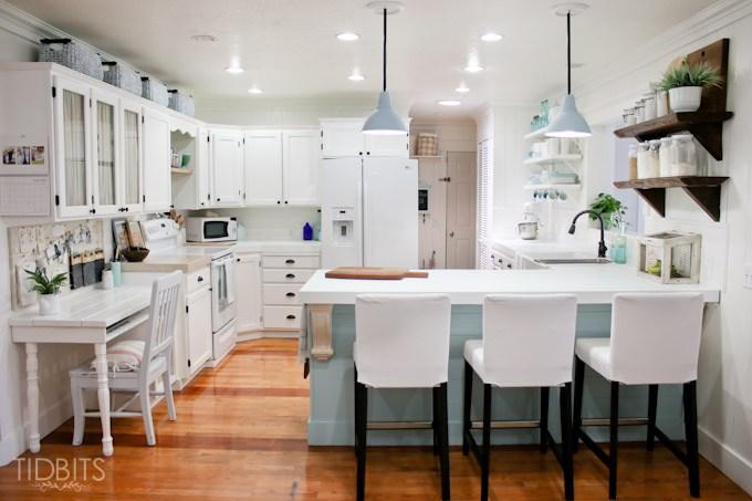 Cottage kitchen reno on a budget kellyelko.com