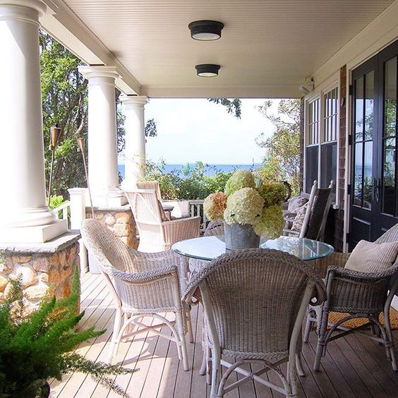 Coastal porch with water views kellyelko.com