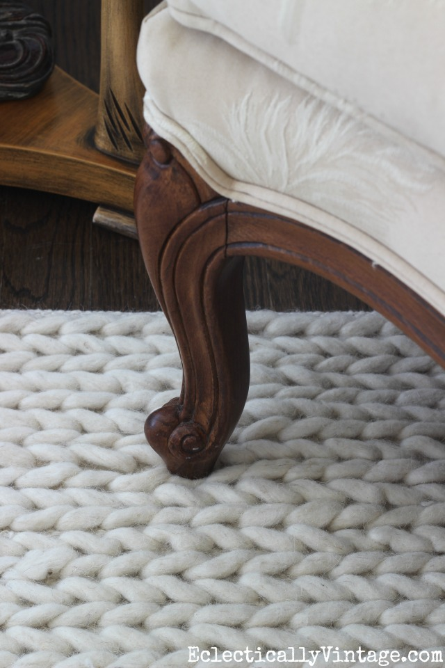 Love the texture of this neutral wool rug kellyelko.com