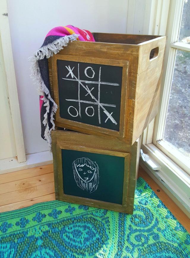 Chalkboard crates kellyelko.com