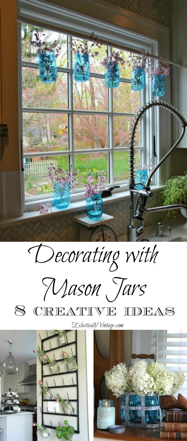 Creative Mason Jar Decorating Ideas kellyelko.com