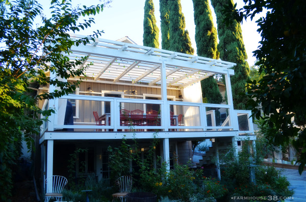 Love this backyard deck pergola kellyelko.com