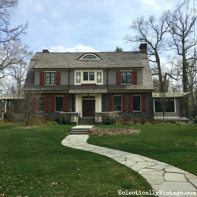 Curb Appeal - love this old Dutch colonial and the paint colors kellyelko.com