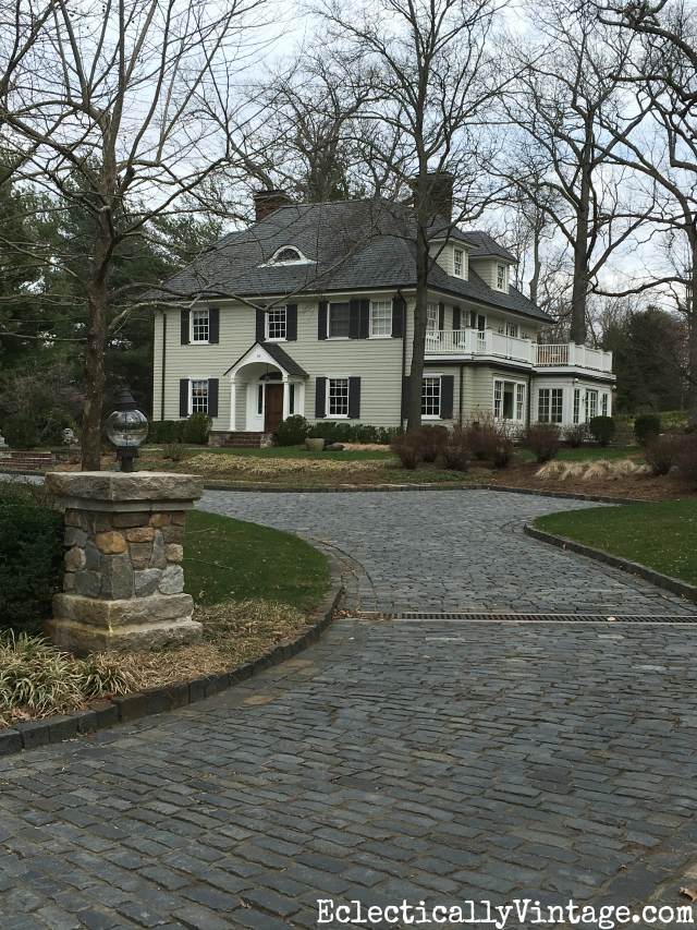 Love the Belgian block driveway leading up to this beautiful old home kellyelko.com