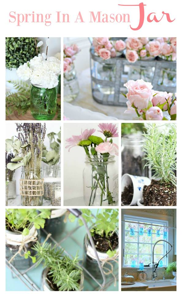 Fun spring decorating ideas using mason jars kellyelko.com
