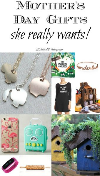 Mother's Day Gift Ideas eclecticallyvintage.com