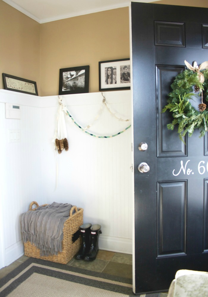 Numbered front door - love the dramatic black paint color eclecticallyvintage.com
