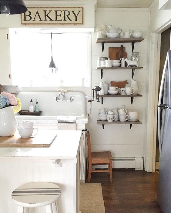 Eclectic Home Tour - love this 1918 Dutch Colonial filled with character like the original kitchen sink kellyelko.com