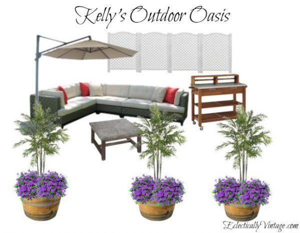Backyard oasis eclecticallyvintage.com