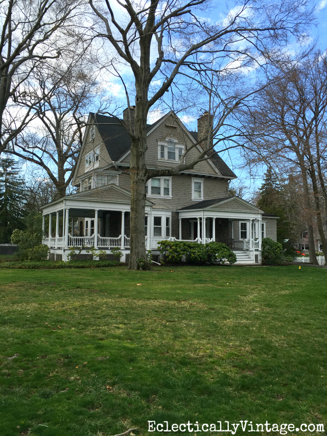 Curb Appeal - love the wrap around porch on this old farmhouse kellyelko.com