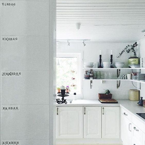 Beautiful open kitchen shelves kellyelko.com