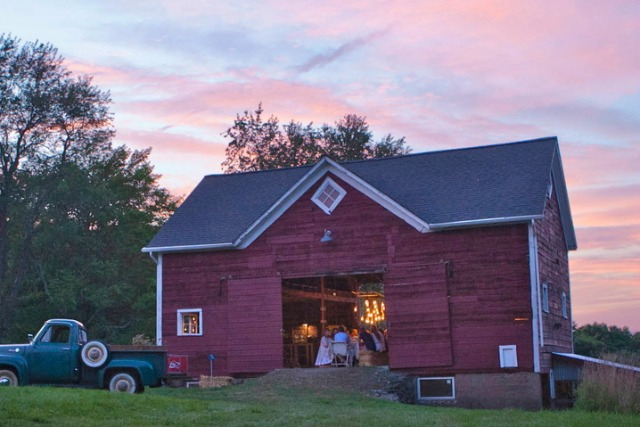 Classic red barn is the place for parties - you have to see the inside kellyelko.com
