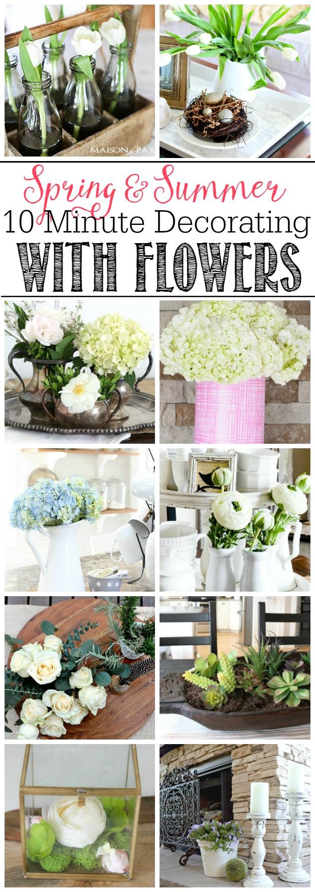 Decorating with Flowers kellyelko.com