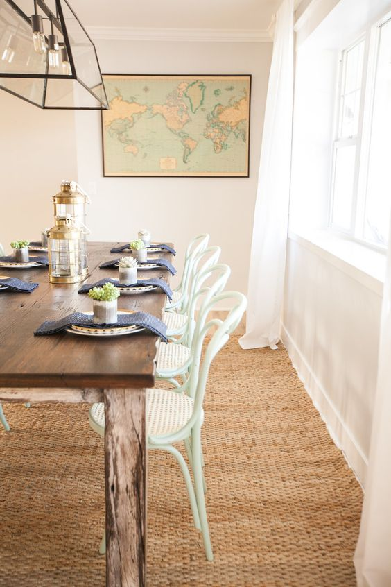 Farmhouse dining table with bentwood chairs kellyelko.com