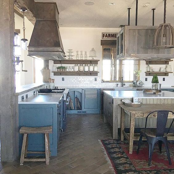 Rustic farmhouse tour - love this warm and inviting kitchen kellyelko.com