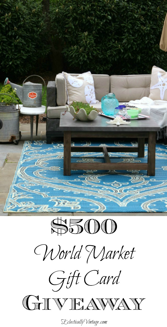 World Market $500 Gift Card Giveaway! kellyelko.com