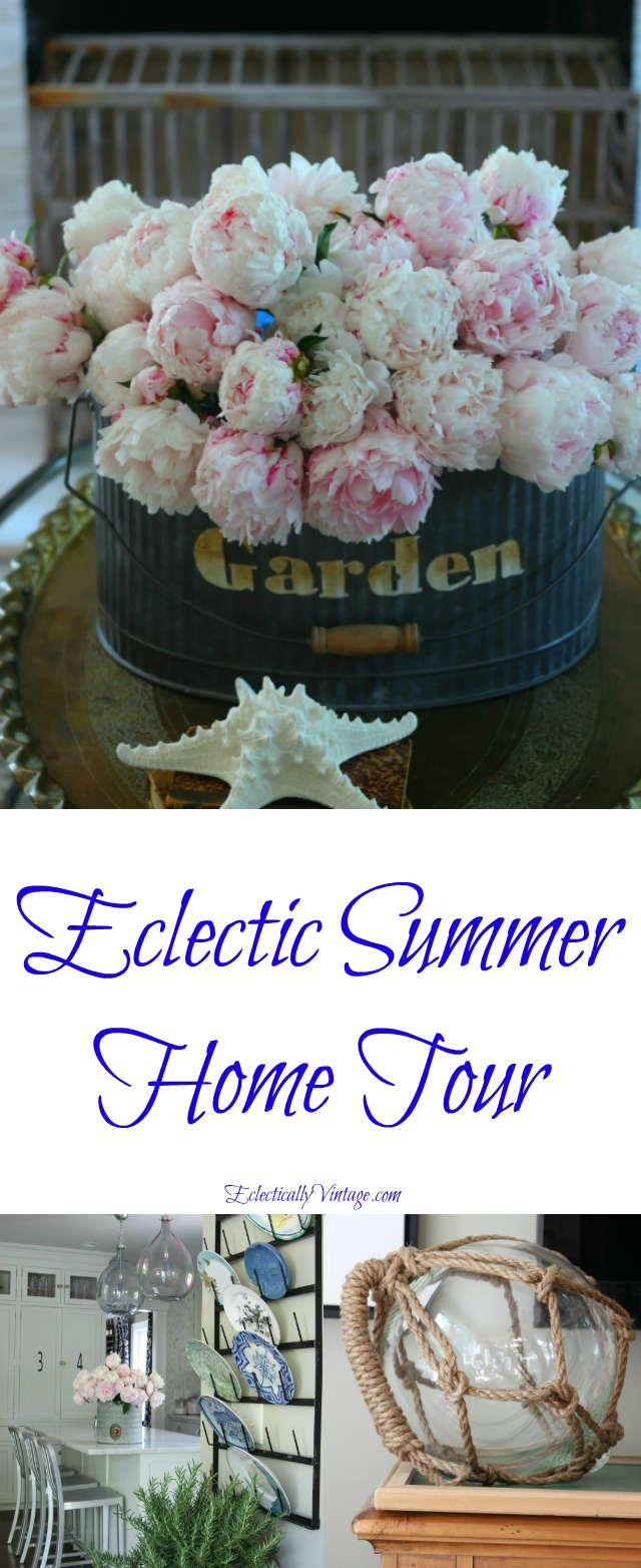 Eclectic Summer Home Tour - she has the most creative and unique decorating ideas kellyelko.com