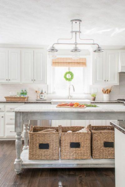 farmhouse kitchen, DIY kitchen island