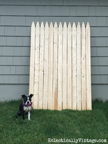 Fence panel - see how she turned it into a huge American flag! kellyelko.com