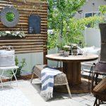 patio, small patio, privacy screen