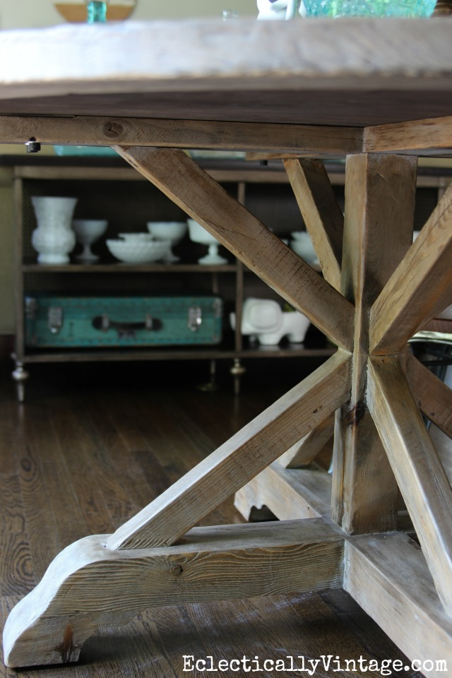 Farmhouse dining table - love the base kellyelko.com