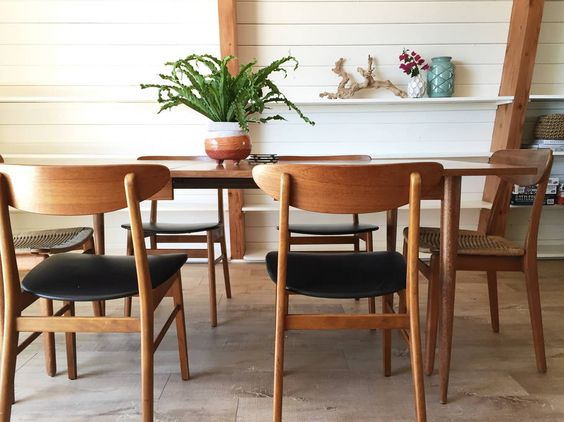 Mid century dining table and chairs kellyelko.com
