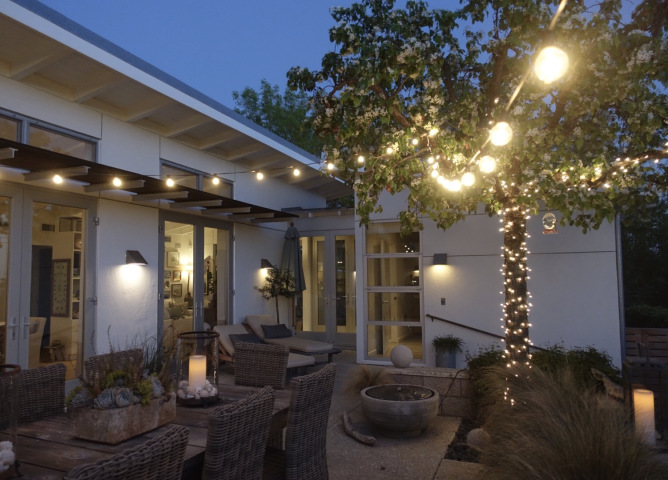 Light up your patio with string lights kellyelko.com