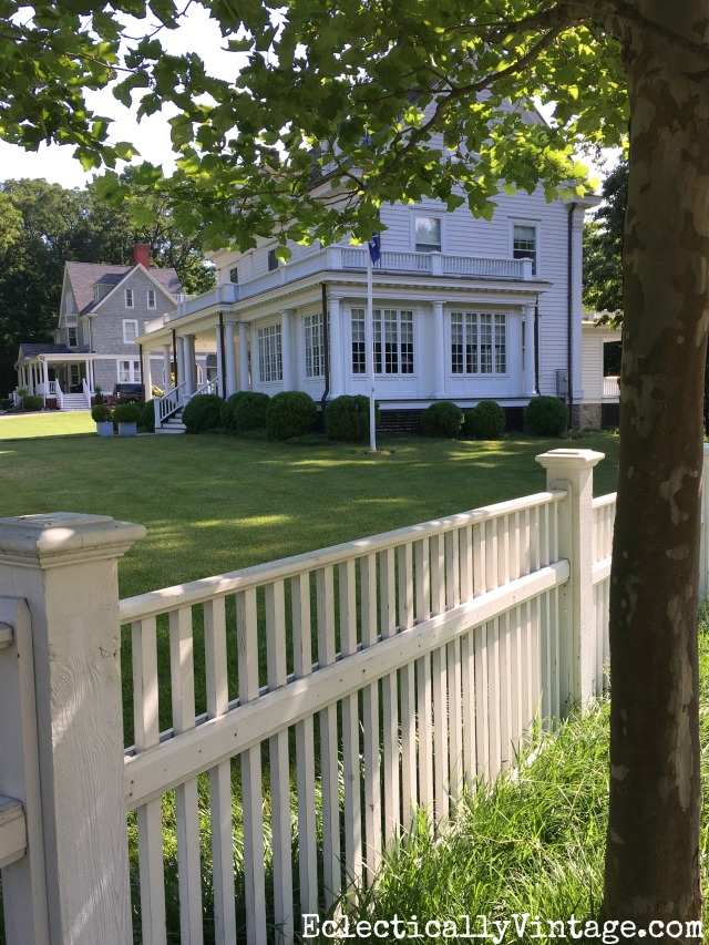 White picket fence adds such curb appeal to this old house kellyelko.com