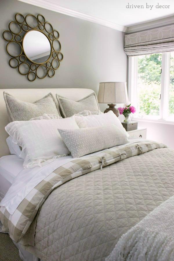 Guest bedroom in neutrals kellyelko.com