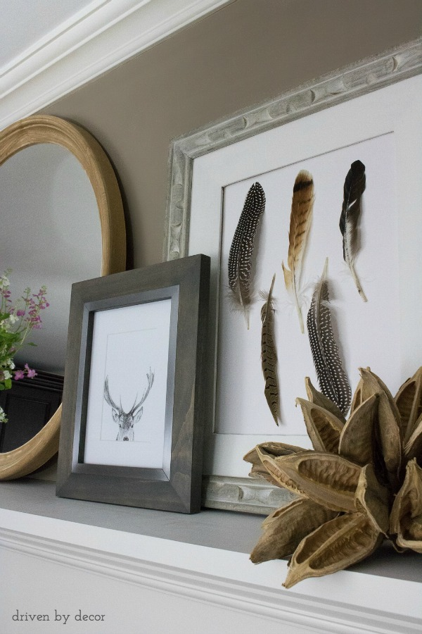 DIY feather art kellyelko.com