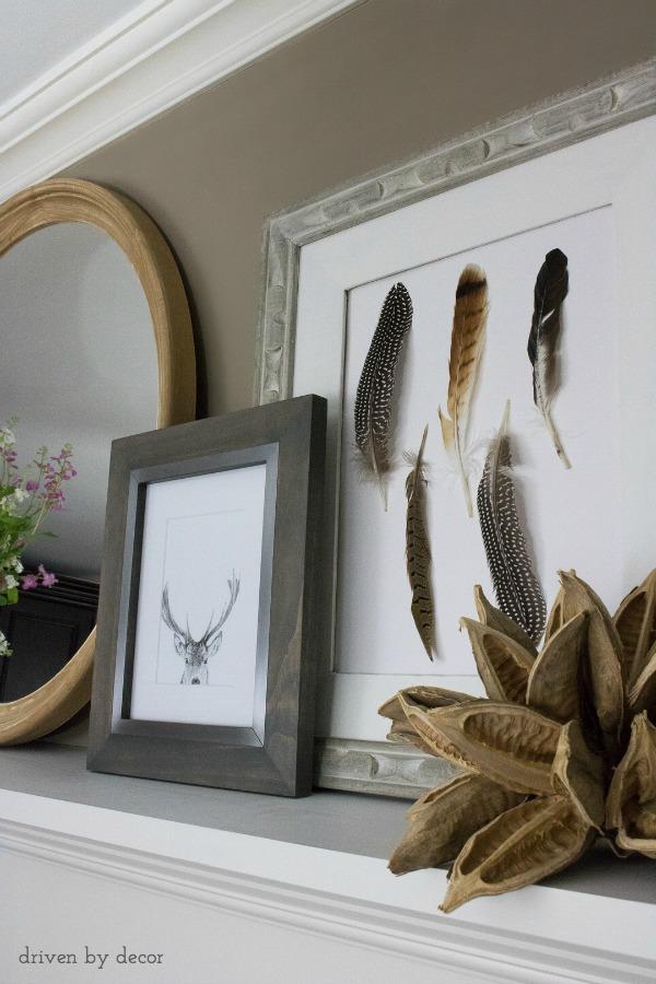 DIY feather art kellyelko.com