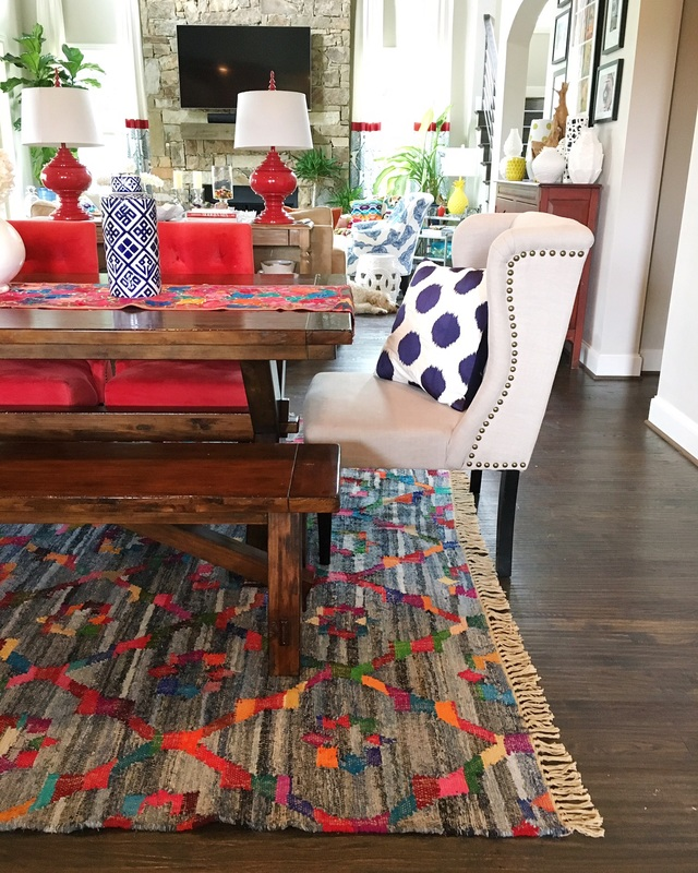 This home mixes pattern, color and creativity that shows off the owners personality! kellyelko.com