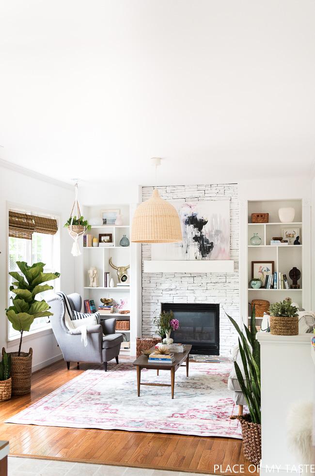Boho living room kellyelko.com