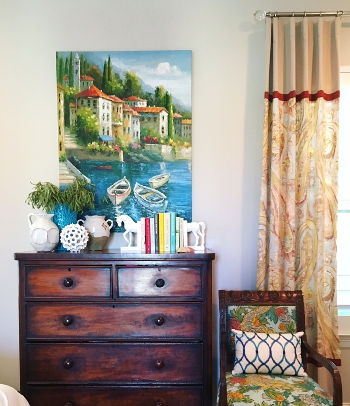 Vintage chest with fun seascape kellyelko.com