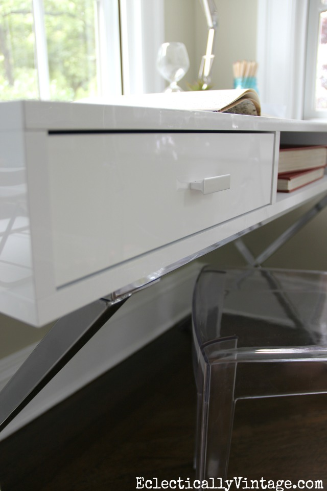 Love this white and chrome desk eclecticallyvintage.co