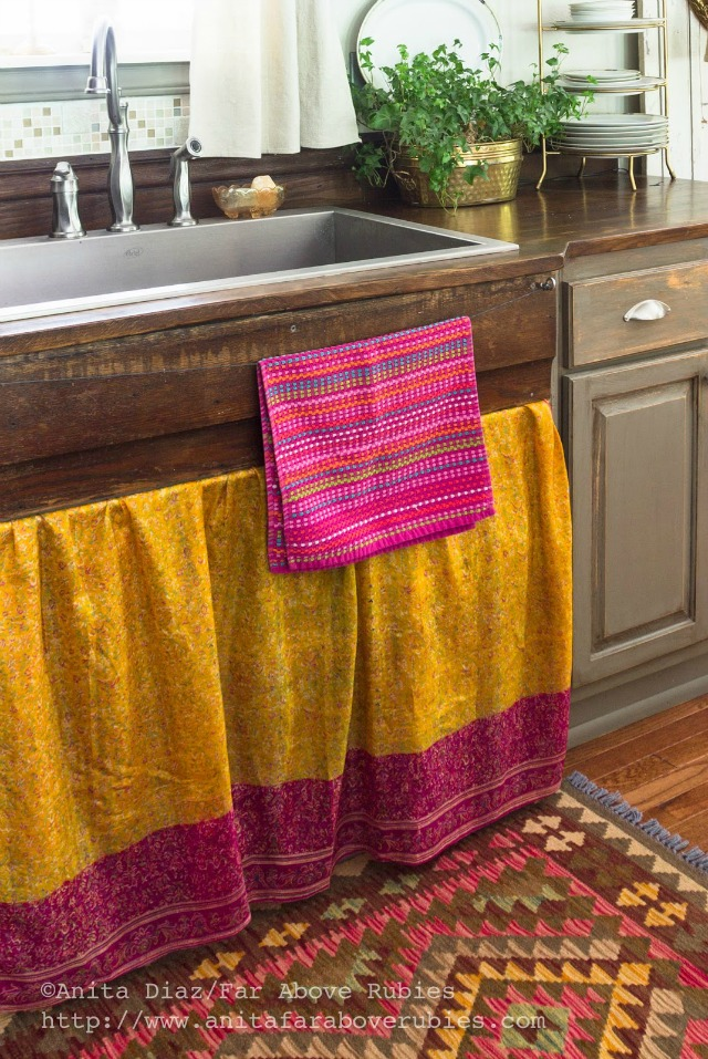 DIY wood countertops and love the simple wire towel holder kellyelko.com