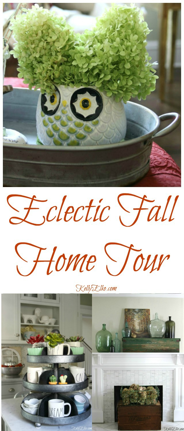 Eclectic Fall Home Tour kellyelko.com
