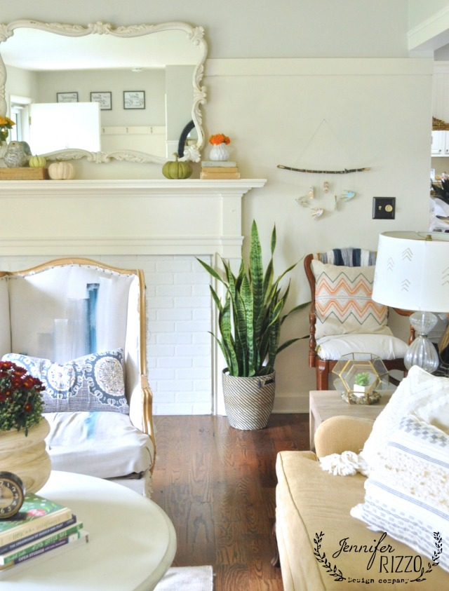 Boho Living Room - love the mix of color and pattern kellyelko.com
