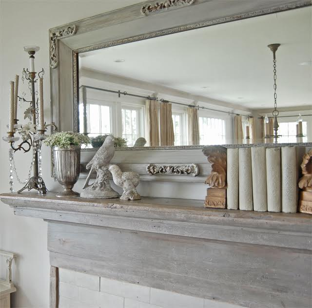 Antique mantel and mirror kellyelko.com
