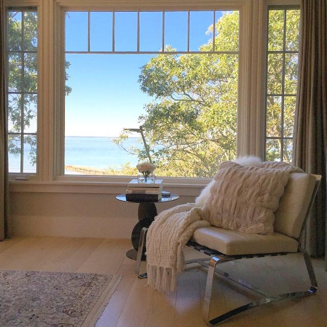 Cozy modern chair with an ocean view kellyelko.com