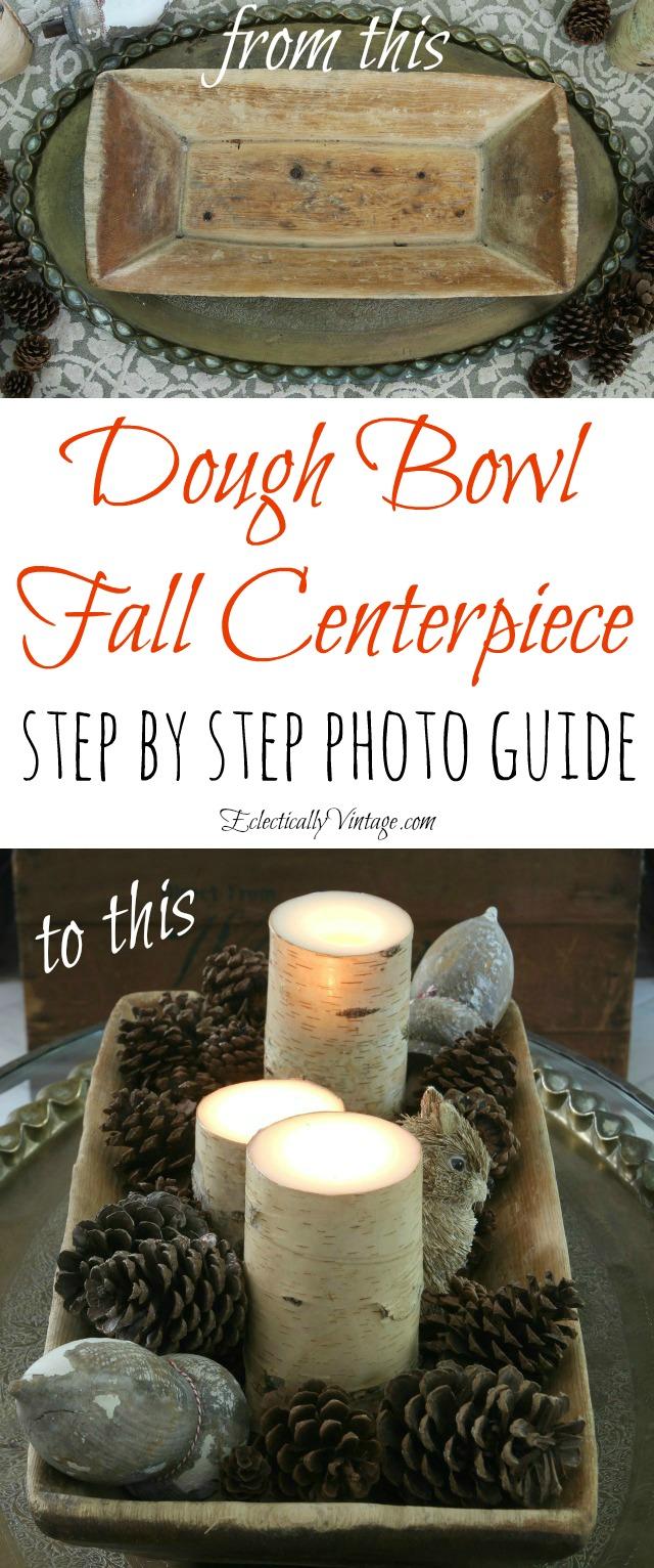 How to make a fall dough bowl centerpiece kellyelko.com