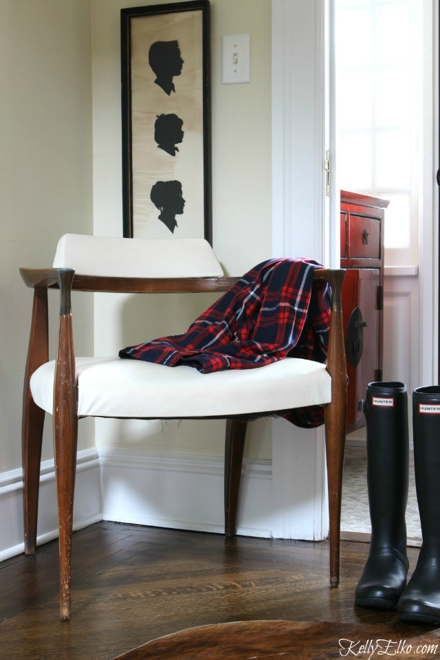 Mid century chair and vintage silhouette art kellyelko.com